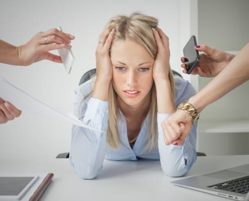 Stress Just A Little - Depressed Business Woman